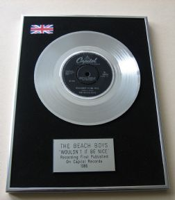 BEACH BOYS - WOULDN'T IT BE NICE PLATINUM Single presentation DISC